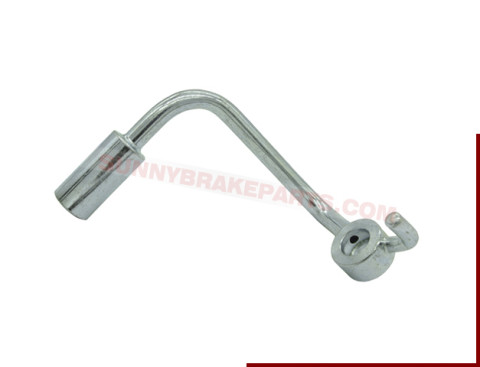 round style bent banjo brake fitting