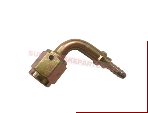 3an female 90 degree yellow-zinc steel 3 swaged hose end