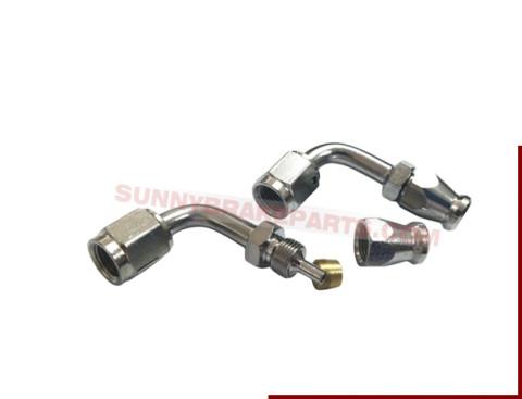 chrome plated bent tube type steel 3an 90 deg swivel hose end