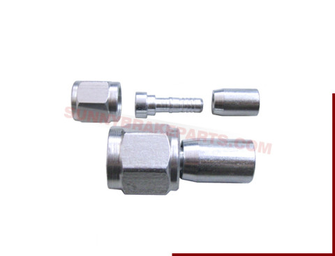 steel zinc plated 3an straight swivel hose crimped end