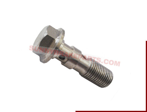 M10 x1.25 stainless double banjo bolt brake fitting