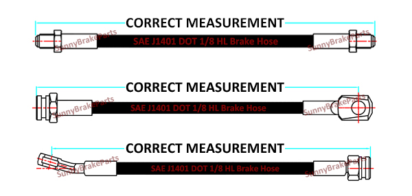 how to measure brake hose assembly